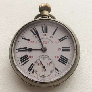 British Indian Railway Pocket Watch 50+ Years Old