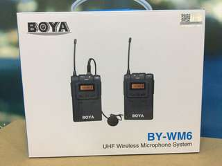 Boya BY-WM6 Wireless Clip microphone