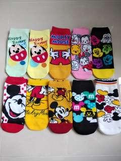 Disney mickey mouse socks 迪士尼米奇純棉短襪