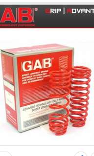 GAB lowered spring for toyota vios ncp42
