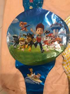 Paw Patrol Peppa pig balloon