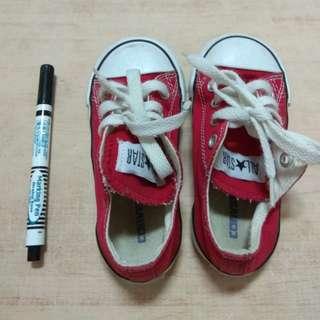 🚚 CONVERSE All Star 童鞋 紅 帆布鞋 14公分