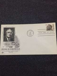 US 1966 6c Franklin Roosevelt FDC stamp