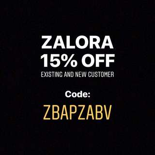 ZALORA 15% existing and new customers