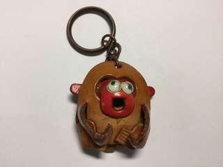 🚚 (可合併運費)真皮 手工製作 小猴鑰匙圈 文創商品