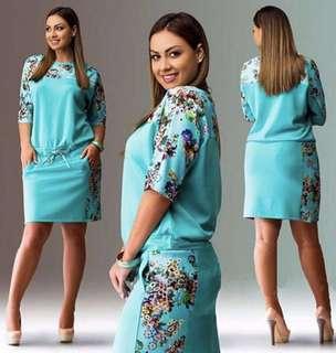 Plus size blue dress 3XL