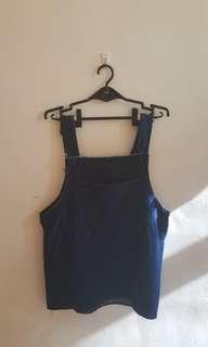🚚 日式深藍吊帶裙