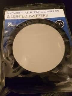 Ezy grip adjustable Mirror with lighted tweezers7