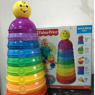Fisher Price - Stack &  Roll cups