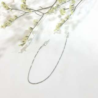 { Multi-way Earring! Simple, Minimalistic - Silver Chain Threader Earring Jewelry }