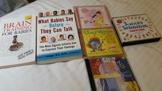 Books on babies and children's CDs