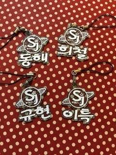 Super junior 應援 鎖匙扣 電話繩