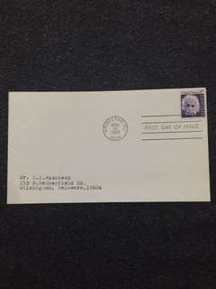 US 1966 8c Einstein FDC stamp