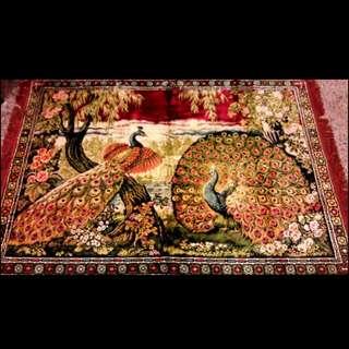 古董老壁毯,掛毯。