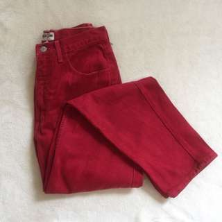Original Guess Red Denim Jeans