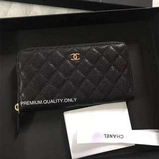 Chanel Caviar zip Wallet