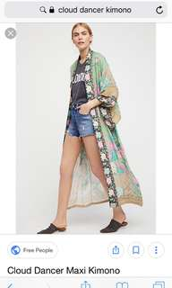 Spell cloud Dancer kimono one size
