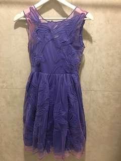 Love Bonito Purple Lacey Dress