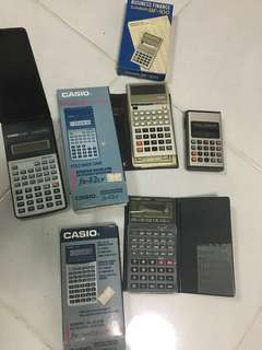 Lot of vintage electronic calculators (spoiled)