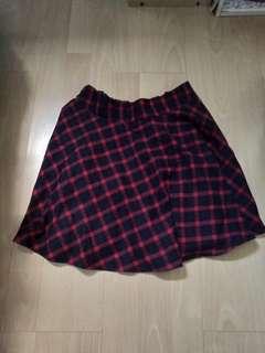 *INSTOCK* Red-checked Skirt