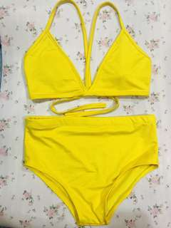 Yellow Swimsuit Fit S-M