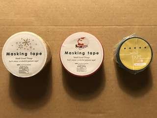 Masking Tape 紙膠帶 HKD15一卷