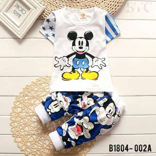 Junior boy set Mickey design cute cartoon short pants short sleeve