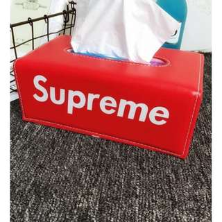 Ready Stock Supreme Tissue Box Car Leather Free Keychain