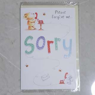 Greeting Card #1 - Sorry, please forgive me