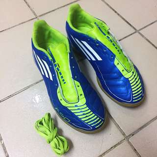 Adidas F50 Blue Futsal Football Soccer Shoes Size 5.5us