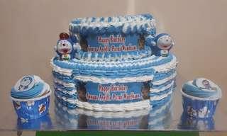 Edible cake 2 tingkat