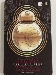 Limited Edition brand new Star Wars BB-8 Design ezlink Card For $15.