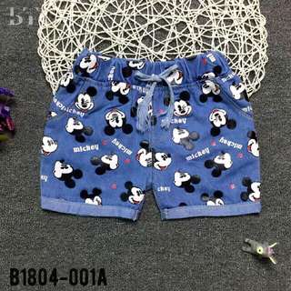 Boy girl short pants Mickey design cute cartoon junior