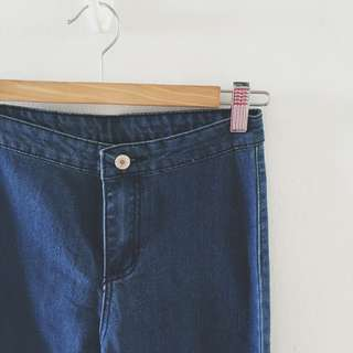 BNWT JEANS WITH HEART POCKETS IN DARK WASH