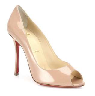 Christian Louboutin (Yootish 100 Patent Leather Peep toe Pumps)