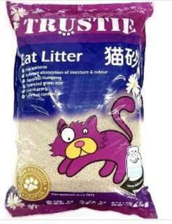 Trustie cat litter: baby powder scent