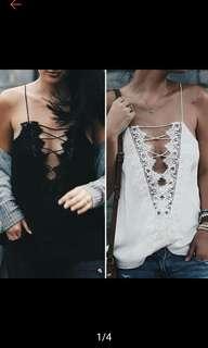 Tank top lace blouse. PO