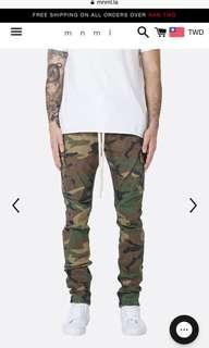 🚚 MNML 美國加州 迷彩口袋工作褲