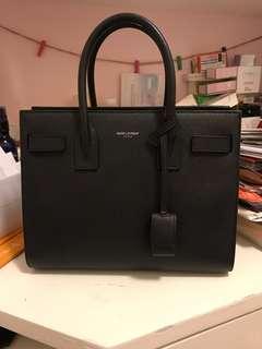 Saint Laurent Paris Sac de Jour Baby size black grain leather
