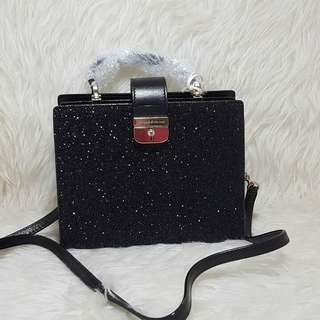 Kate Spade Kirin Medium (larger than Mini) Black Glitter