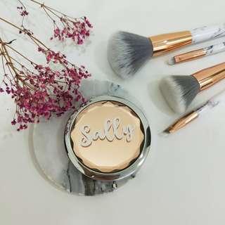 Name personalised makeup compact mirror   pocket mirror