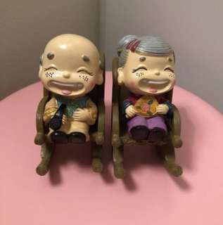 Grandpa and grandma figures