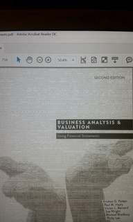 Business Analysis & Valuation using Financial Statements by Palepu. 2nd Edition Asia Pacific Edition (ACC5001 or NUS Masters mod: Business Analysis and Valuation)