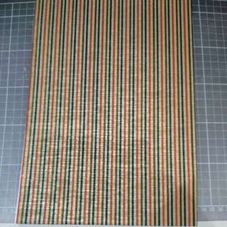 Chiyogami A4, 'mustard silk' with stripes