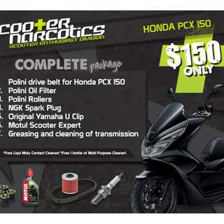 Complete Servicing Package for Honda PCX 150