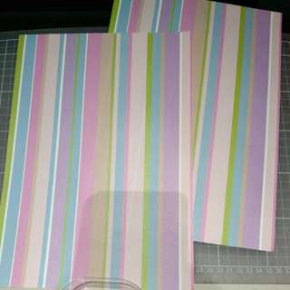 Pattern paper. A4, candy stripes