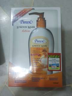Pureen stretch mark lotion free nappy liners