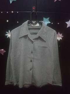 Baju kemeja blouse wanita abu abu