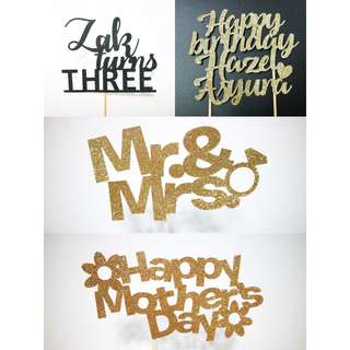 Customised Cake toppers