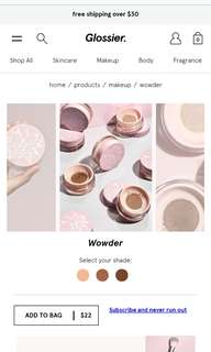 Glossier wowder